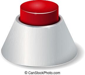 現実的, ボタン, 赤