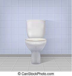 現実的, 内部, トイレ, バックグラウンド。