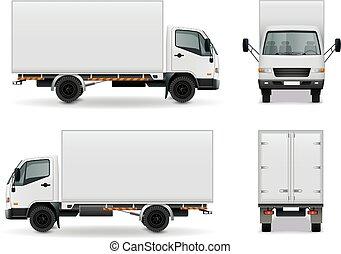 現実的, 広告, 貨物自動車, mockup