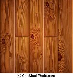 現実的, 木製板, 手ざわり, ブラウン