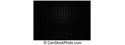 現実的, 木, 黒い背景, パターン