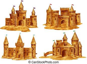 現実的, 砂の 城, セット