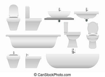 現実的, 3d, 浴室, コレクション