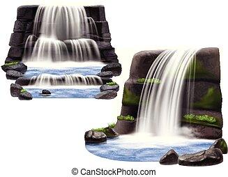 現実的, compositions, 滝
