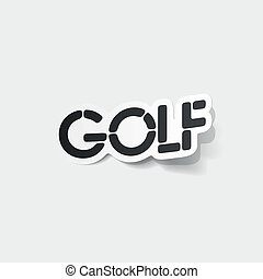 現実的, element:, デザイン, ゴルフ