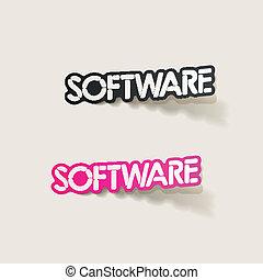 現実的, element:, デザイン, ソフトウェア