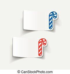 現実的, element:, 杖, デザイン, キャンデー