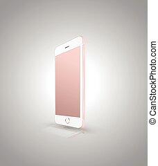 現実的, smartphone, 新しい
