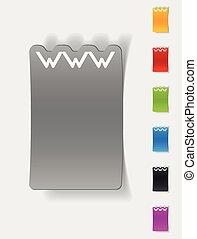 現実的, www, デザイン, element.