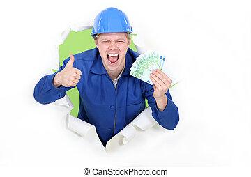 現金。, 建築作業員, 大いに, マレ