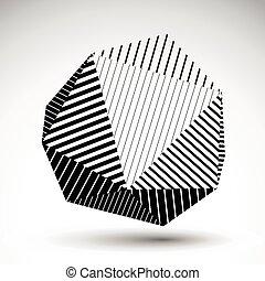 球形, ベクトル, 3d, 対称的