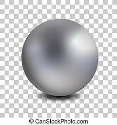 球形, マット, ボール, 宝石類, 現実的, isolated., 金属, 3d, クロム, ベクトル, orb., ...