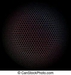 球形, 有色人種, pattern., イラスト, ベクトル, 背景, 幾何学的, 3d, 多角形