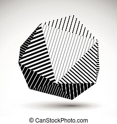 球形, 矢量, 3d, 對稱