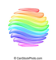 球, カラフルである, 抽象的