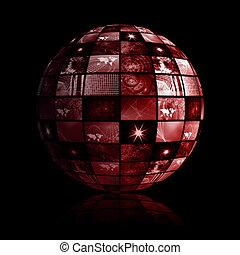 球, 世界的である, 技術, 世界, 媒体