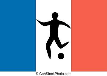 球, 人, 表演者, 足球, 运动员, 侧面影象