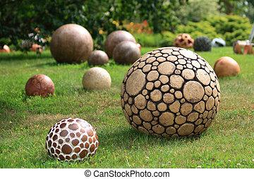 球, 公園