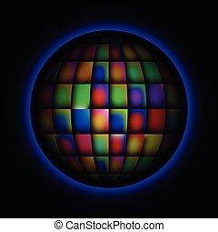 球, 抽象的, カラフルである, 明るい, 背景