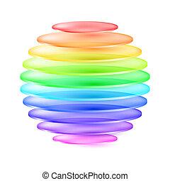球, 抽象的, カラフルである