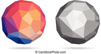 球, 抽象的, ベクトル, カラフルである, イラスト