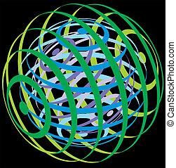 球, 抽象的, 背景