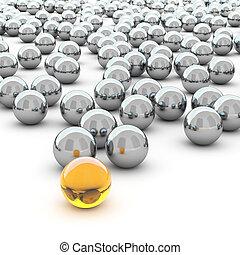 球, 抽象的, 3d, レンダリング