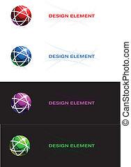 球, 摘要設計, element.