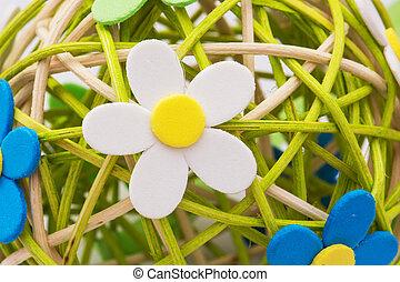 球, 枝編み細工, 装飾用である, はねるように駆けなさい, 作られた, florets