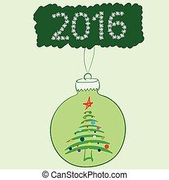 球, 樅樹, 聖誕節