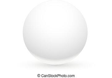 球, 白色, 陰影