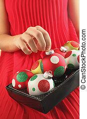 球, 聖誕節, 藏品, 手