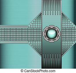 球, 背景, 鉚釘, 金屬, 玻璃, 技術