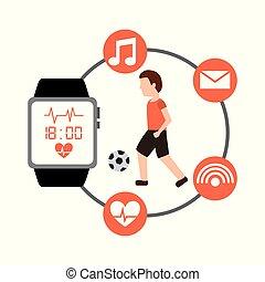 球, 象运动员, 健康, 观看, 足球, 聪明, 人
