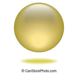 球, 黄色