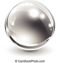 球, 3d, ガラス