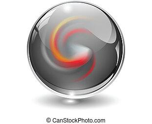 球, 3d, 水晶, vector., ガラス