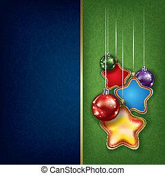 球, grunge, 問候, 星, 聖誕節