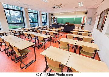理論, 教室, 中に, 高校