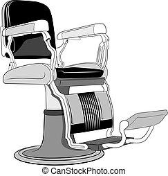 理髪店, 椅子