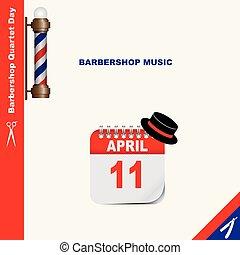 理髪店, 音楽, 四つ組, 日