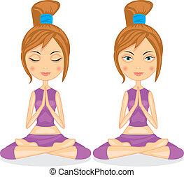 瑜伽, 女孩