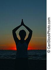 瑜伽, 晚上
