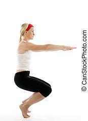 瑜伽, 笨拙, 姿態, 插圖, 健身 教練員, 老師