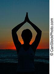瑜伽, #3, -, 晚上