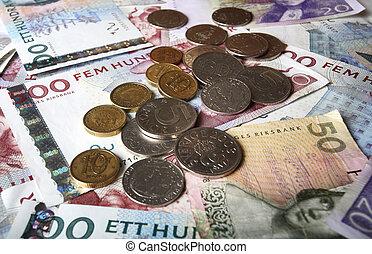 瑞典語, 錢