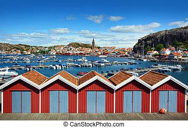 瑞典語, fjällbacka, 漁村
