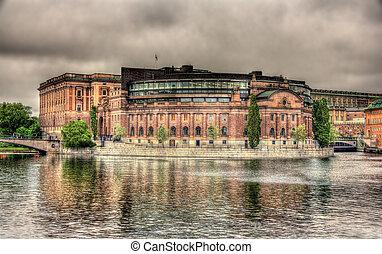 瑞典, 議會建築物, 在, 斯德哥爾摩
