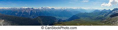瑞士人, 全景, 高山