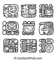 瑪雅語, glyphs, 寫, 系統